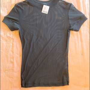 UO- urban outfitters sheer black Tee 🧟♀️ Large